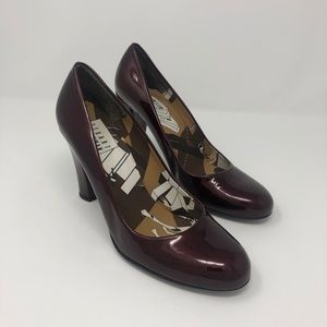 Deep Red Patent Pumps